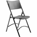 National Public Seating 610 Plastic Folding Chair, Black