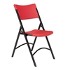 National Public Seating 640 Heavy-Duty Plastic Folding Chair, Red