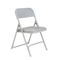 National Public Seating 802 Premium Lightweight Plastic Folding Chair, Grey