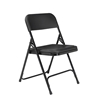 National Public Seating 810 Premium Lightweight Plastic Folding Chair, Black