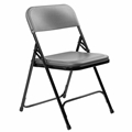 National Public Seating 820 Premium Lightweight Plastic Folding Chair, Charcoal
