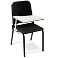 "National Public Seating 8210/TA82R Melody Stack Chair (18""H) with Tablet-Arm, Right"