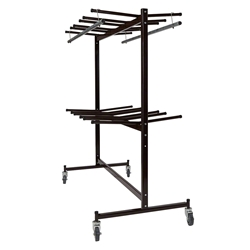 National Public Seating 84-60 Double-Tier Dolly for Hanging Folding Chairs & Coats folding chair cart, chair trolley, chair dolley, folding chair truck, checkerette, hanging coat rack, coat check, folding chair truck, transport, rolling