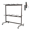 National Public Seating 84-EXT8 Double-Tier Folding Chair Dolly w/High Back Chair Extension Bar