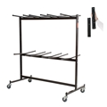 National Public Seating 84-EXT8 Double-Tier Folding Chair Dolly w/Extension Bar
