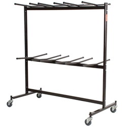 National Public Seating 84 Double-Tier Dolly for Hanging Folding Chairs folding chair cart, chair trolley, chair dolley, folding chair truck, checkerette, hanging coat rack, coat check, folding chair truck, transport, rolling