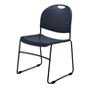 National Public Seating 855-CL Commercialine Multi-Purpose Ultra-Compact Stack Chair, Navy
