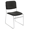National Public Seating 8660 Fabric Padded Signature Stack Chair, Ebony Black