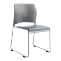 National Public Seating 8742 Cafetorium Plush Vinyl Stack Chair, Blue Grey