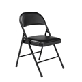 National Public Seating 950 Commercialine Vinyl Padded Steel Folding Chair, Black