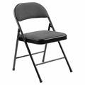 National Public Seating 970 Commercialine Fabric Padded Steel Folding Chair, Star Trail Black