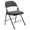National Public Seating 974 Commercialine Fabric Padded Steel Folding Chair, Star Trail Blue