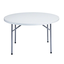"National Public Seating BT48R 48"" Heavy-Duty Round Folding Table, Speckled Grey btr, round, folding table"