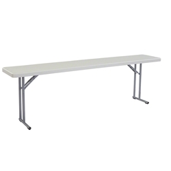 "National Public Seating BT1896 18""x96"" Folding Seminar Table bt1800, rectangle, seminar table, 18x96, 96x18"