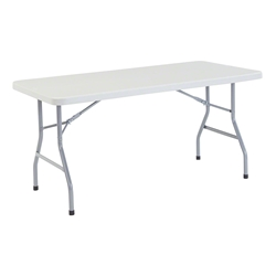 "National Public Seating 30""x60"" Heavy-Duty Folding Table, Speckled Grey bt3000, rectangle, folding table, 5 foot table"
