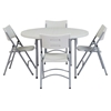 "National Public Seating 48"" Round Folding Table & Chairs Package"