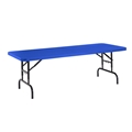 "National Public Seating BTA-3072-04 30""x72"" Height Adjustable Rectangular Folding Table, Blue"