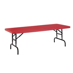 "National Public Seating BTA-3072-40 30""x72"" Height Adjustable Rectangular Folding Table, Red bta3072, rectangle, folding table, 72x30"