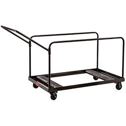 National Public Seating DYMU Folding Table Dolly for Round/Rectangular Tables round table storage, table trolley, transport, round folding table truck