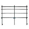 "National Public Seating GRR32S Back Guard Rail for 32"" Straight Choral Risers"