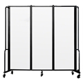 National Public Seating Portable Room Divider, 6' Wide, Clear Acrylic