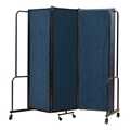 National Public Seating Portable Room Divider, 6' Wide, Blue Fabric