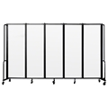 National Public Seating Portable Room Divider, 10' Wide, Clear Acrylic