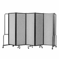 National Public Seating Portable Room Divider, 10' Wide, Grey Fabric