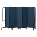 National Public Seating Portable Room Divider, 10' Wide, Blue Fabric