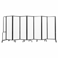 National Public Seating Portable Room Divider, 13.5' Wide, Clear Acrylic