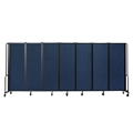 National Public Seating Portable Room Divider, 13.5' Wide, Blue Fabric