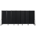 National Public Seating Portable Room Divider, 13.5' Wide, Black Fabric