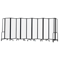 National Public Seating Portable Room Divider, 17.5' Wide, Clear Acrylic