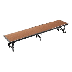 "National Public Seating RS16HB 8 Straight Standing Choral Riser, Hardboard, 16"" High choral risers, band risers, school risers, straight risers, choir stage risers, standing riser"