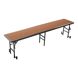 "National Public Seating RS24HB 8 Straight Standing Choral Riser, Hardboard, 24"" High choral risers, band risers, school risers, straight risers, choir stage risers, standing riser"