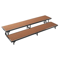 National Public Seating RS2LHB 2-Level 8 Straight Standing Choral Riser, Hardboard choral risers, band risers, school risers, straight risers, choir stage risers, standing riser, 2 tier, 2 level