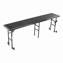 "National Public Seating RS32C 8 Straight Standing Choral Riser, Carpet, 32"" High choral risers, band risers, school risers, straight risers, choir stage risers, standing riser"