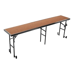 "National Public Seating RS32HB 8 Straight Standing Choral Riser, Hardboard, 32"" High choral risers, band risers, school risers, straight risers, choir stage risers, standing riser"