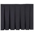 "National Public Seating Box Pleat Stage Skirt for 24"" High Stages"