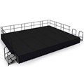 "National Public Seating 16'x20' Portable Stage Kit - 24"" High, Carpet"