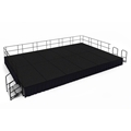 "National Public Seating 16'x24' Portable Stage Kit - 24"" High, Carpet"