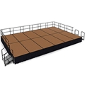 "National Public Seating 16'x24' Portable Stage Kit - 24"" High, Hardboard"