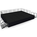 "National Public Seating 16'x20' Portable Stage Kit - 32"" High, Carpet"