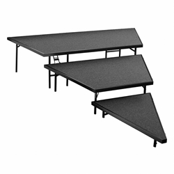 "National Public Seating SPST36C 3-Level Seated Riser Stage Pie Set, Carpet (36"" Deep Tiers) choral risers, band risers, school risers, seated risers, angle, wedge, SPST36C-02, SPST36C-04, SPST36C-10, SPST36C-40"