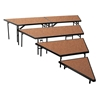 "National Public Seating SPST36HB/SP3632HB 4-Level Seated Riser Stage Pie Set, Hardboard (36"" Deep Tiers)"