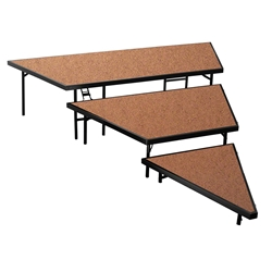 "National Public Seating SPST36HB 3-Level Seated Riser Stage Pie Set, Hardboard (36"" Deep Tiers) choral risers, band risers, school risers, seated risers, angle, wedge"