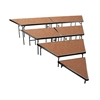 "National Public Seating SPST48HB/SP4832HB 4-Level Seated Riser Stage Pie Set, Hardboard (48"" Deep Tiers)"