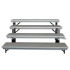 National Public Seating TP72/TPA TransPort 4-Level Straight Standing Choral Riser