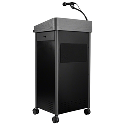 Oklahoma Sound GSL-S Greystone Lectern with Sound greystone lectern, presentation, presentation lectern, teaching lectern, multi media cart, lectern with sound, sound lectern, greystone lectern with sound