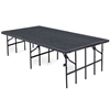"National Public Seating S3632C 3'x8' Portable Stage with Carpet, 32"" Height"
